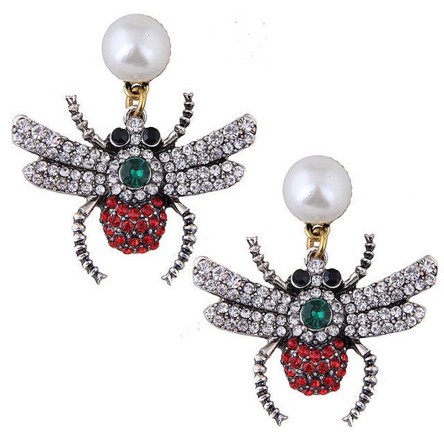 Cute Pearl Spider Earrings For Women