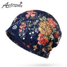 [AETRENDS] 2017 jesień koronki czapki kwiatowy czapki dla kobiet kobieta Slouch czapki czapki czapka kapelusz Z-5346 tanie tanio Z AETRENDS Poliester Bawełna Dorosłych Kobiety Na co dzień Skullies czapki 3 colors for choice Worek do góry Wiosna lato jesień