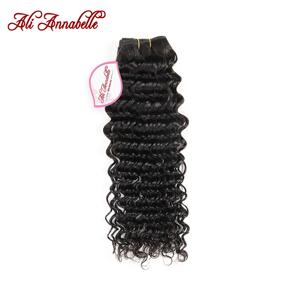 ALI ANNABELLE HAIR Deep Wave Malaysian Hair Weave Bundles Natural Color 100% Remy Human Hair Weave 10-28inch Free Shipping