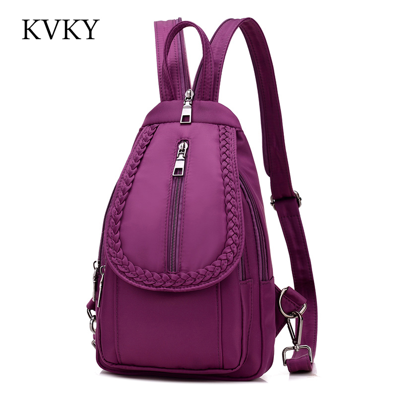 Fashion Vintage Weave Stitching Women Shoulder Bag Backpack Multifunction Chest Women Nylon Leisure Backpacks Designers