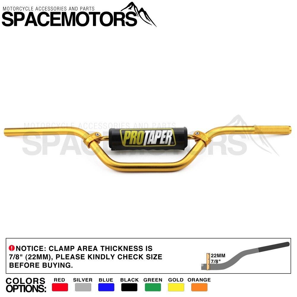 Black Pitbike Handlebars 7//8 22mm Mid Handle Bar Tubes For KTM CRF YZF WRF KXF KLX RMZ DRZ Dirt Bike Motocross Quad Off Road ATV Universal