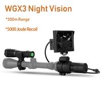 300M Range at full dark Night Vision Rilfescope Cameras 5000 Joule Recoil Strong Anti Shock Wild Hunting Cameras