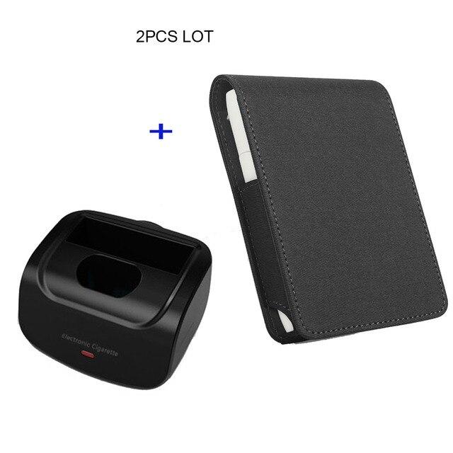 Jinxingchengためiqosマルチ3.0ホルダーボックスレザーケースフリップ財布ポーチバッグと充電器iqosマルチ充電
