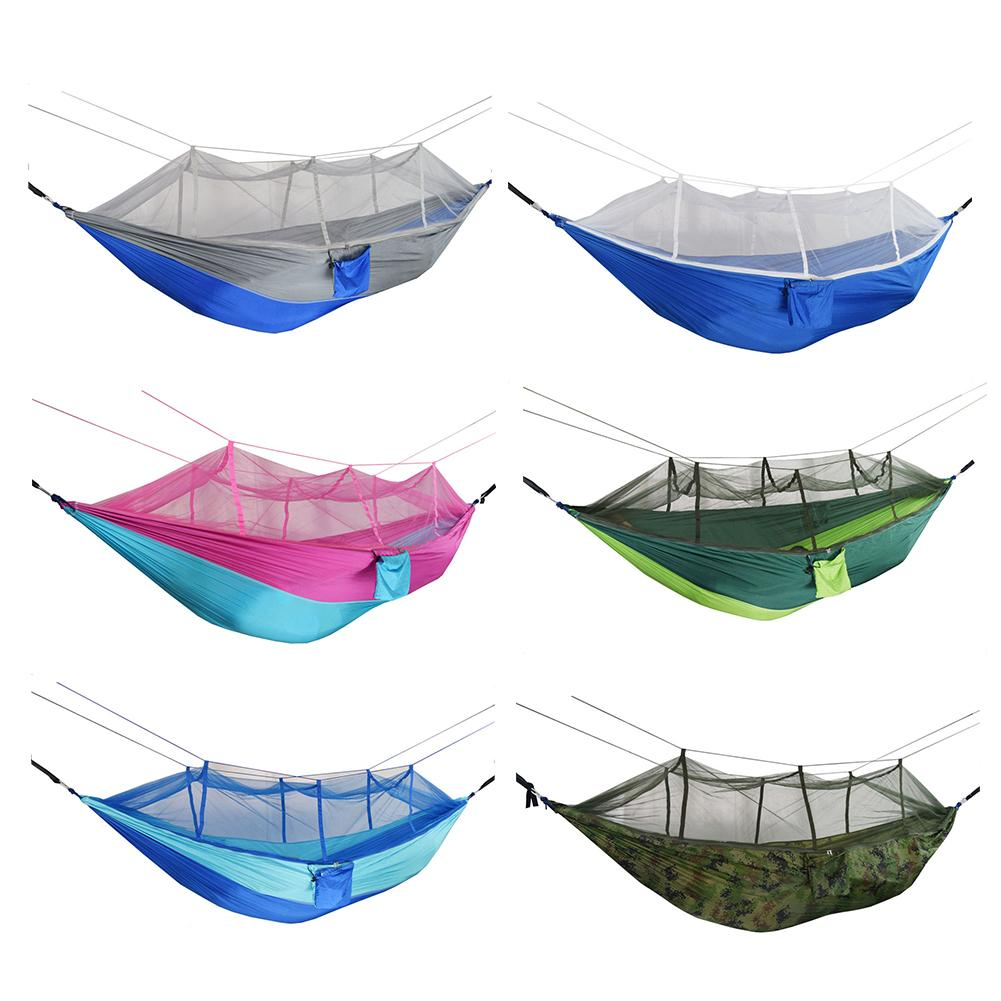 9Pcs Camping Portable Mosquito Net Hammock Tent Double Person Hanging Swing Bed For Outdoor Camping Tent Using Sleeping260*140cm