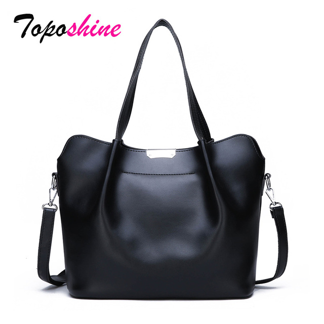 Toposhine Personality Solid Color Ladies Handbags New Fashion High Quality Casual Joker Shoulder Messenger Bag