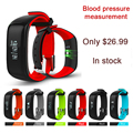 "P1 Bluetooth Smartband Blood Pressure Monitor Heart Rate Monitor Wristband Waterproof IP67 Smart Bracelet Wearable 0.86"" OLED 2"