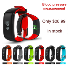P1 Bluetooth Smartband Blood Pressure Monitor Heart Rate Monitor Wristband Waterproof IP67 Smart Bracelet Wearable 0.86″ OLED 2