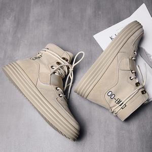 Image 5 - Aelfric Eden Flat Platform Ankle Boots 2019 Spring Autumn Lace up Elastic Band Shoes male High Fashion Motorcycle Sneakers AE27