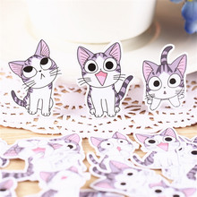 hot deal buy 40 pcs/lot mini anime cats homestyle decoration adhesive stickers diy paper stickers diary sticker scrapbook stationery stickers