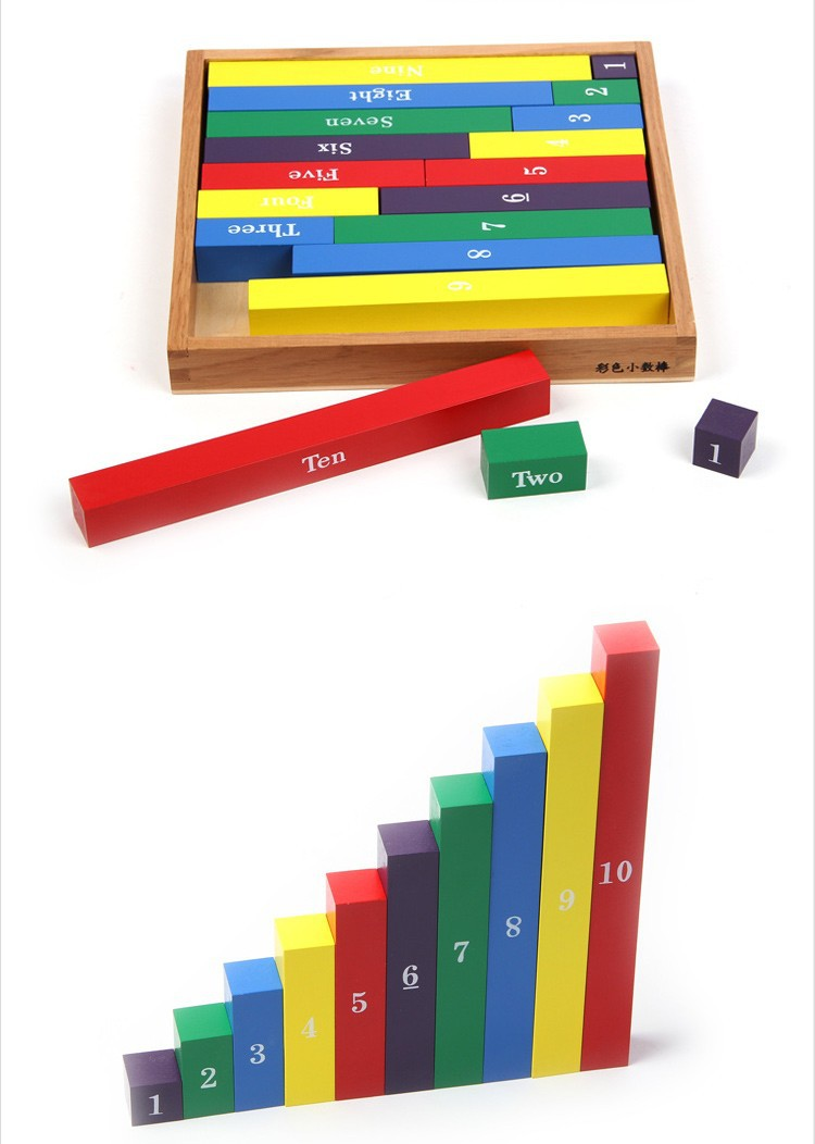 Wooden blocks Montessori Baby Learning&Education math teaching tools Toys Gift