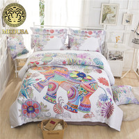 Медуза 60 s dumask 3D слон постельных принадлежностей король, Королева Размер 4 шт. пододеяльник плоский лист наволочка постельное белье комплект