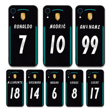 European Football RONALDO MODRIC KROOS Jersey style Real Madrid Custom Names and Numbers case for iPhone XR Phones cases