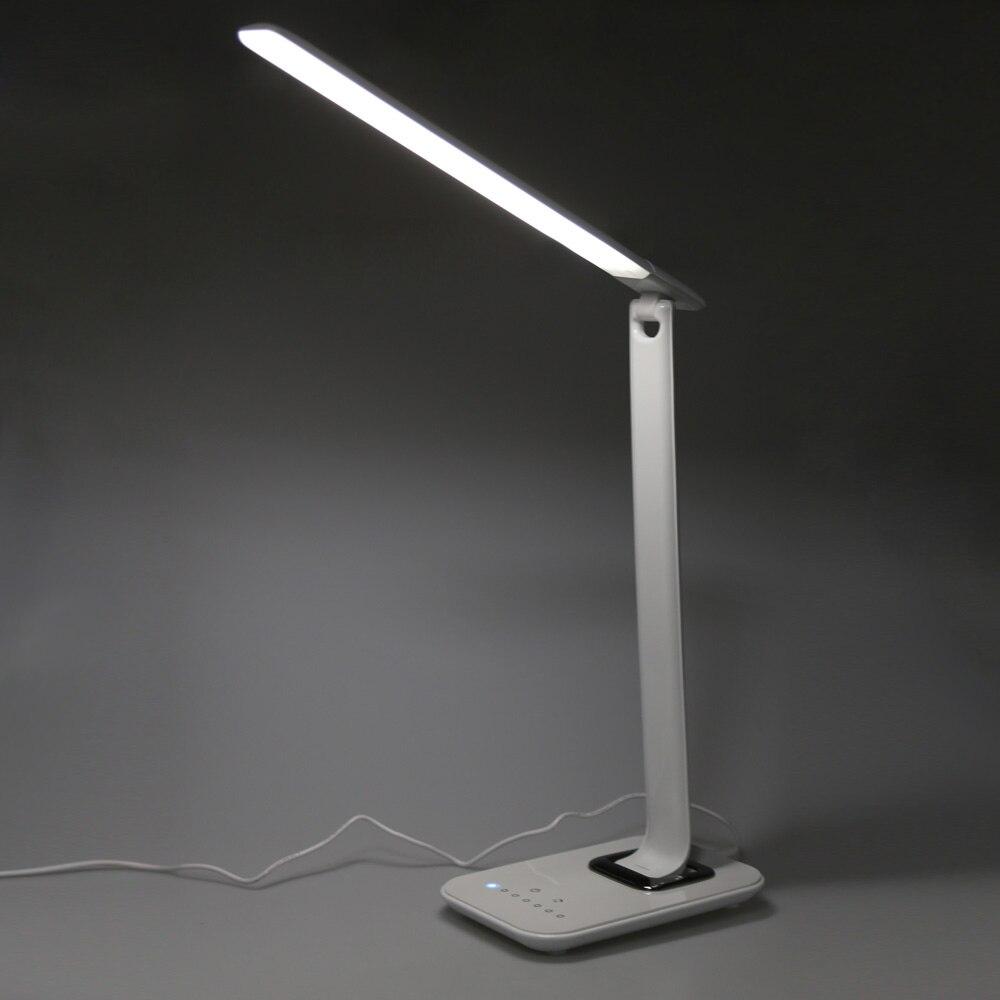 12 Вт 72 шт. 2835 Светодиодный настольная лампа складная затемнения поворотный Eye Care светодиодный сенсорный контроллер зарядка через usb Порты и разъёмы настольная лампа
