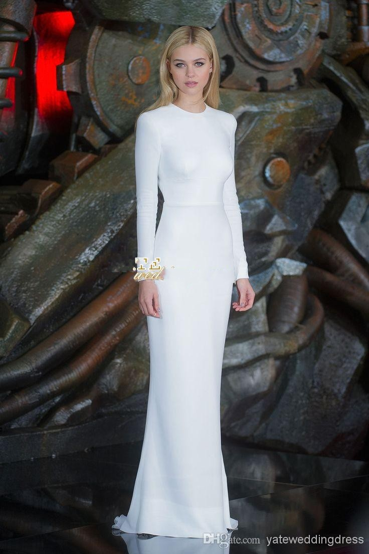 70d5cc2a188 Nicole Piltz Crew Elegant White Long Sleeve Evening Party Dresses Backless  Sexy Floor Length Red Carpet Celebrity Dress 2014-in Celebrity-Inspired  Dresses ...