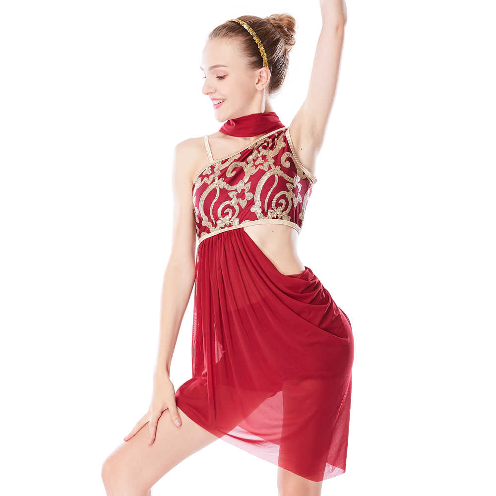9a20192bb Gymnastics Dresses Lyrical Dance Costumes Stage Performance Costumes Sexy Ballet  Dancing Dress