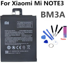 BM3A Mobile Phone Battery For Xiaomi MI NOTE3 NOTE 3 Real Capacity 3500mAh Replacement Li-ion Battery цена