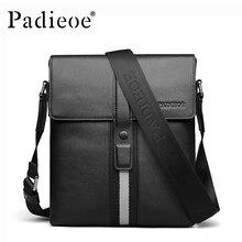 Padieoe 2017 New Men Bag Genuine Leather Crossbody Bag Fashion European Designer Male Shoulder Messenger Bags