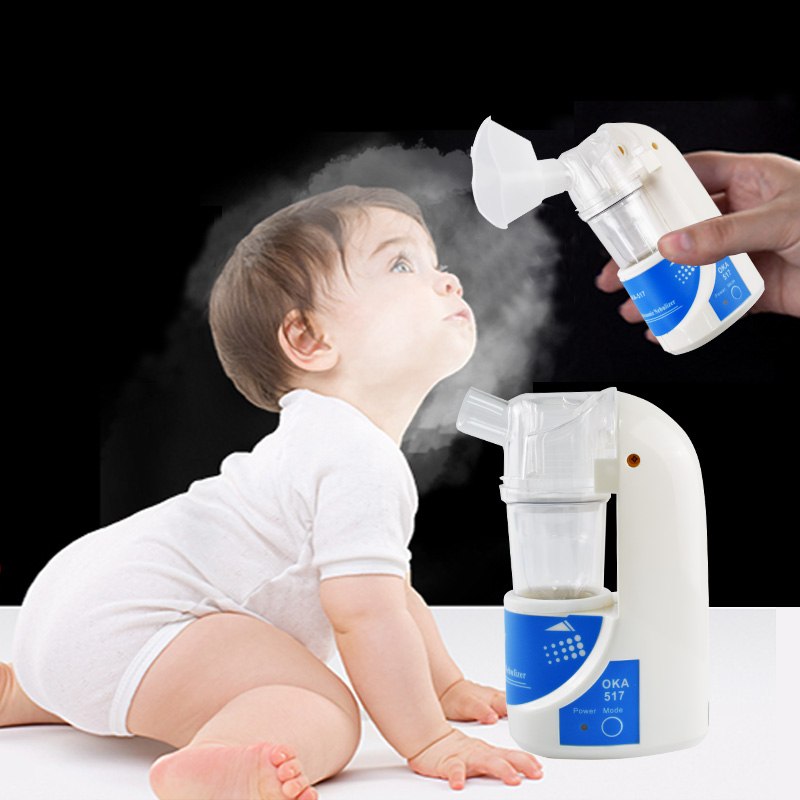 Household Medical Ultrasonic Asthma Inhaler Nebulizer Health Care Nebulizer Inhaler Machine for Children and Adult cofoe portable ultrasonic nebulizer medical home health care portable inhaler mini dolphins cartoon designed 2017 free shipping