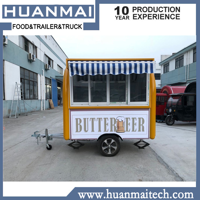 Huanmaitech remorque alimentaire Mobile kiosque alimentaire Stand Concession remorque