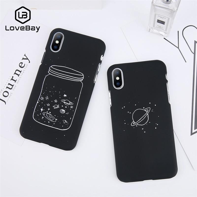 Lovebay Phone Case For iPhone 6 6s 7 8 Plus X Cute Cartoon Wishing Bottle Planet Moon Starry Sky Fundas For iPhone 8 Phone Case iPhone