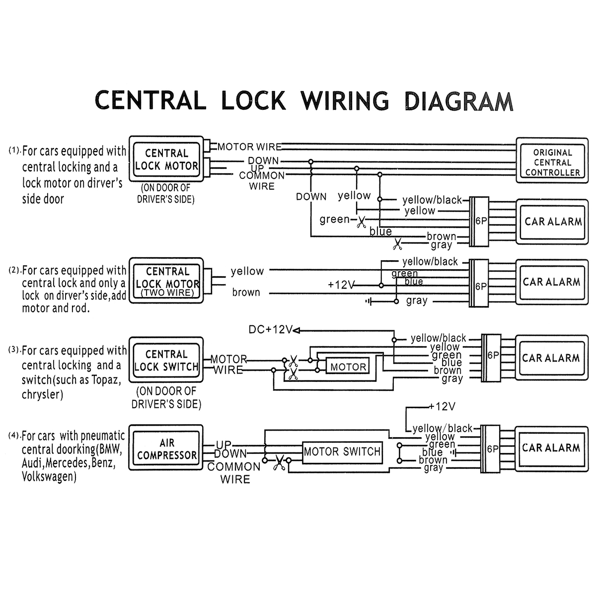 02D0AC Car Alarm Central Locking Wiring Diagram | Wiring ResourcesWiring Resources