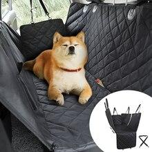 Pet köpek taşıyıcı su geçirmez örgü köpek araba klozet kapağı Oxford araba arka arka koltuk minderi yastık koruyucu için cepler ile Pet seyahat