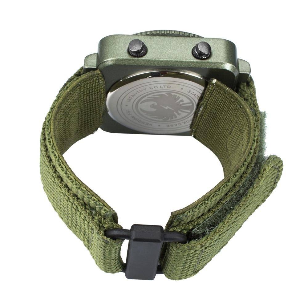 INFANTRY Męskie Zegarki Kwarcowe Nowy Wojskowy Zielony Wojskowy - Męskie zegarki - Zdjęcie 5
