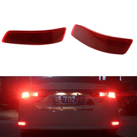 2 Pcs Tail Red Rear Bumper Light LED ReflectorStop Brake Fog Lamp For Toyota Corolla 2014