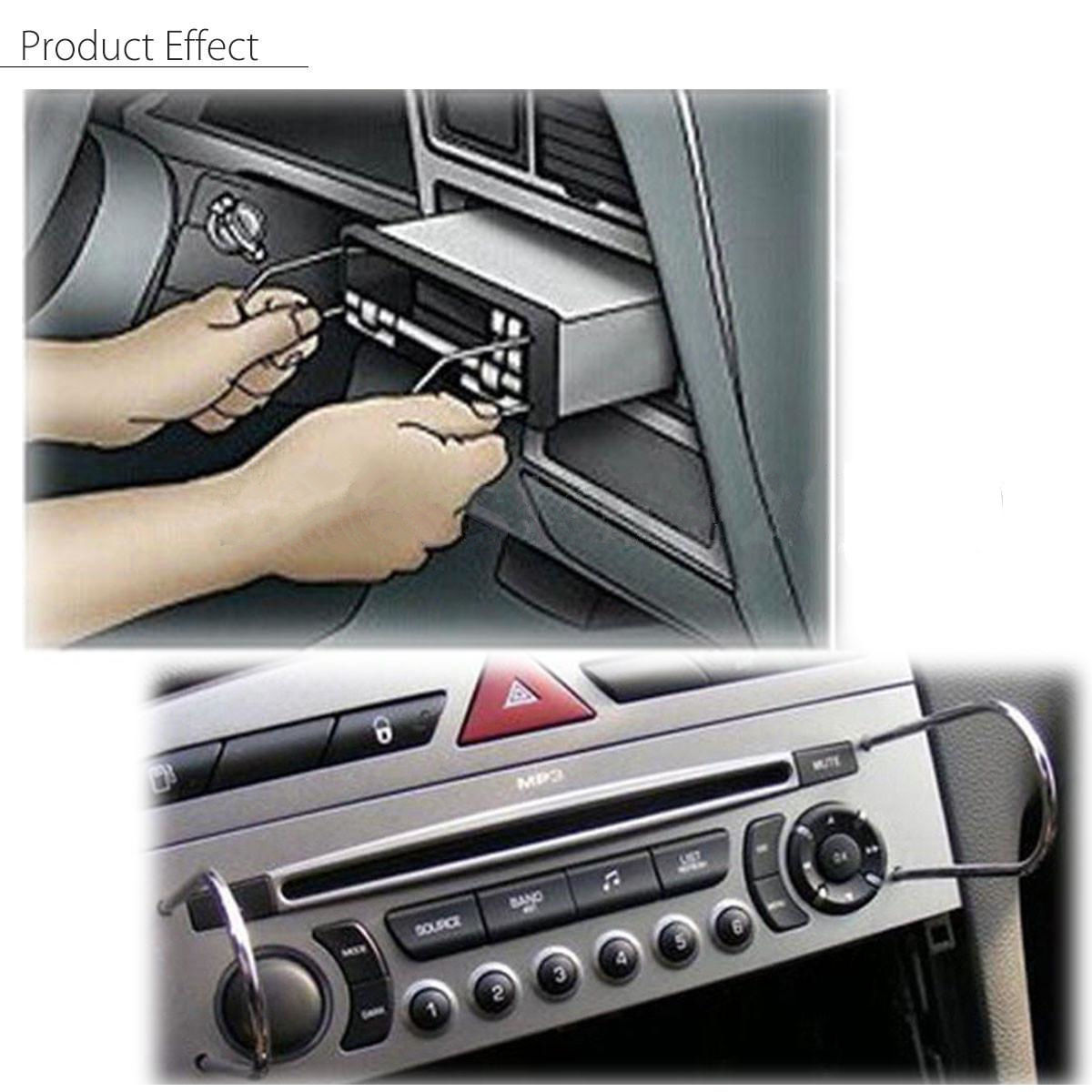 20pcs set Stainless Steel Car Interior Radio Stereo Removal Key Installation Tool in Sheet Metal Tools Set from Automobiles Motorcycles