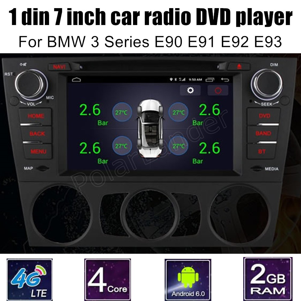 For BMW <font><b>3</b></font> Series E90 E91 E92 E93 1 Din Car Video Player <font><b>7</b></font> inch DVD GPS WiFi Radio Bluetooth Quad Core touch screen image