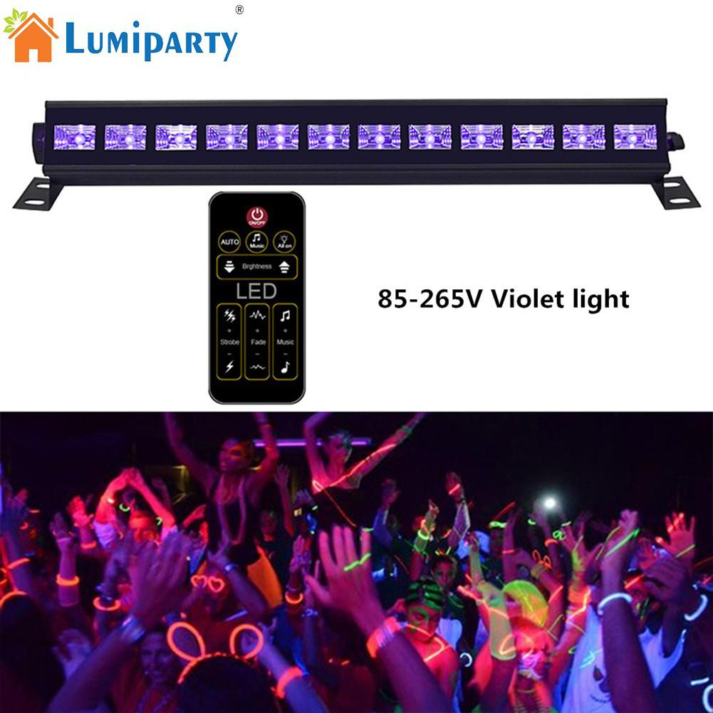 LumiParty LED Sound Sensor Projection Lamp UV Purple Light Stage Light Wall Washer for Club DJ Show Party Ballroom Bands