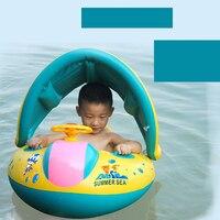שחייה מתנפחת תינוק תינוק חדש קיץ לילדים ילדים לצוף בטיחות טבעת שחייה מתכוונן צורת רכב סירת מושב טבעת לשחות
