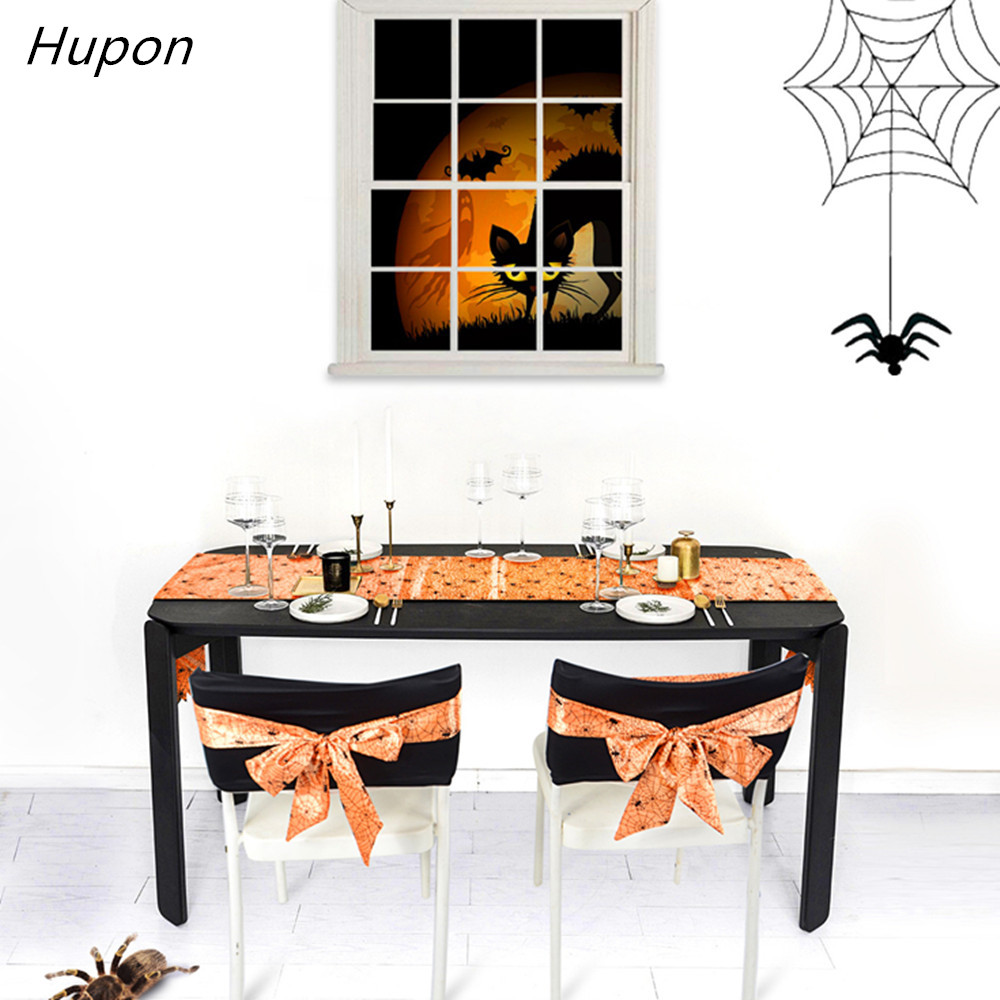 Surprising Us 3 92 12 Off 1 Piece Halloween Decoration Lace Spiderweb Fireplace Table Runner Tablecloth Chair Covers Festive Party Supplies Chair Sashes In Caraccident5 Cool Chair Designs And Ideas Caraccident5Info