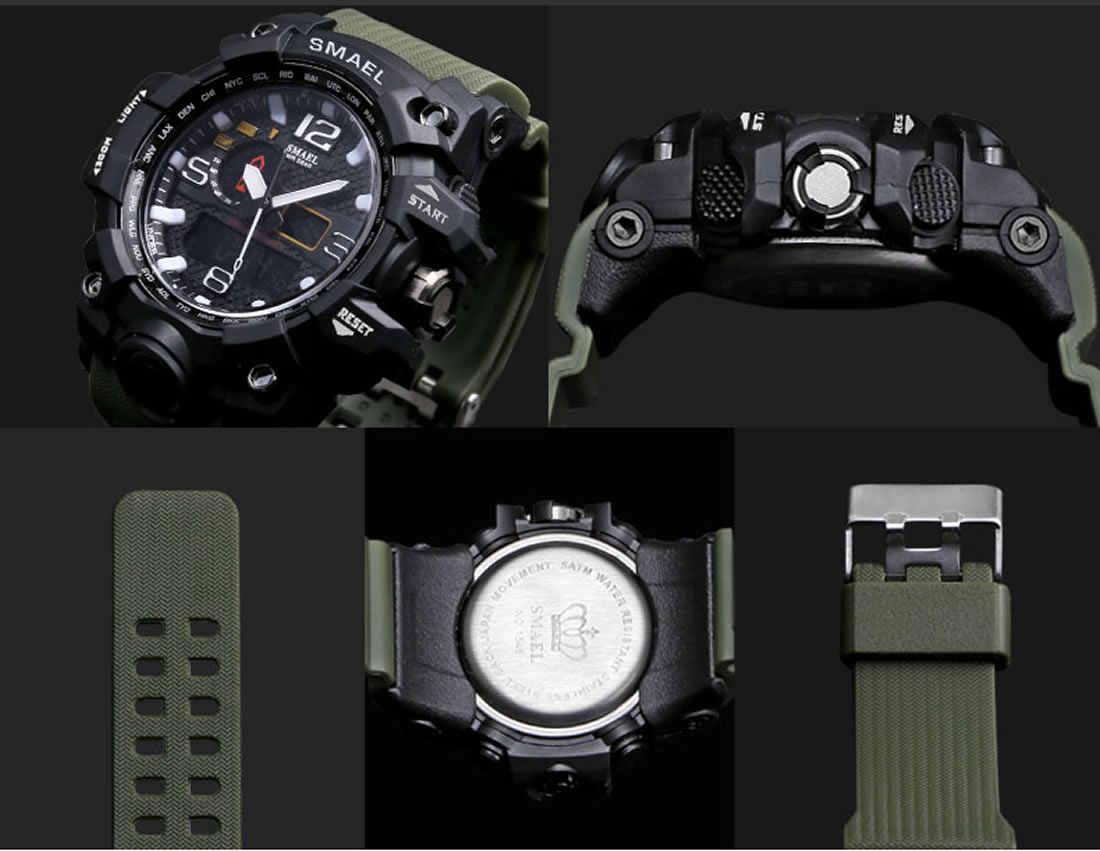 جديد SMAEL العسكرية LED ساعة رقمية الرجال العلامة التجارية الفاخرة الشهيرة ساعة رياضية الذكور ساعة اليد الإلكترونية Relogio Masculino