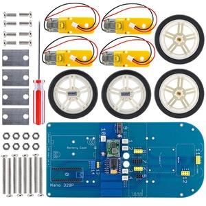 Image 4 - Dễ dàng Cắm 4WD Nối Tiếp Bluetooth Kiểm Soát Cao Su Bánh Răng Bánh Xe Động Cơ Thông Minh Xe X Kit với Hướng Dẫn đối với Arduino Nano/ UNO R3/Mega2560