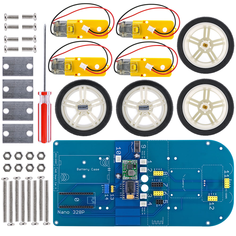 Image 4 - Easy Plug 4WD Serial Bluetooth Control Rubber Wheel Gear Motor Smart Car X Kit with Tutorial for Arduino Nano / UNO R3/ Mega2560Demo Board Accessories   -