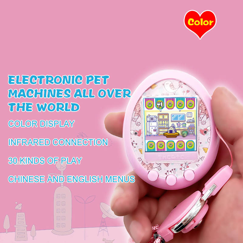 2018 NEW Color display game machine Tamagochi electronic virtual cyber elves of pet kids gift Color screen pet game Toy купить недорого в Москве