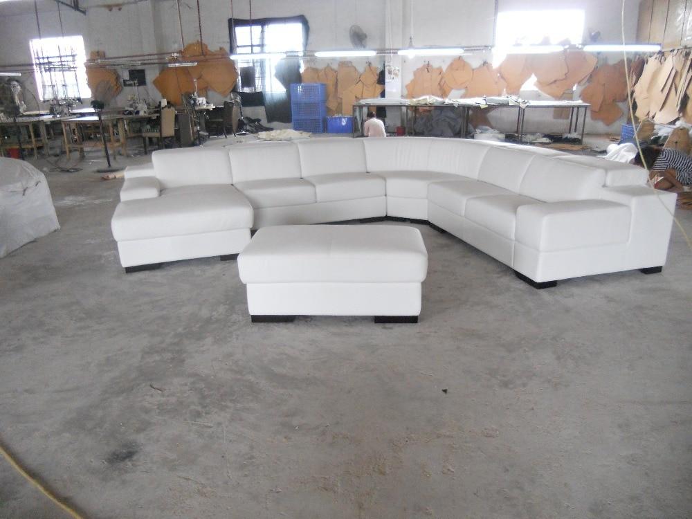 Eleganten in racionalen resničen usnjen kavč Dnevna soba kavč v - Pohištvo - Fotografija 3