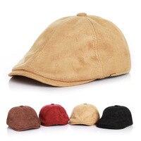 2016 Autumn Winter Suedette Infant Beret Handsome Baby Hat Adjustable Girl Boy Children Cap For 2