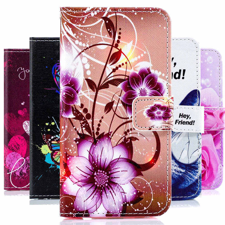 Luxury Wallet Leather Flip Case For Samsung Galaxy J2 Core J260G J260 SM-J260G Dual SIM Cell Phone Case Painted Pattern Cover
