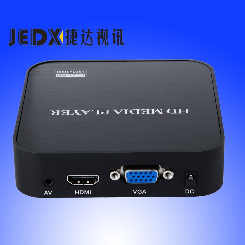 где купить JEDX Full HD 1080P SD/U Disk HDD Media Player USB External multimedia player With HDMI VGA MKV H.264 RMVB WMV free Car adapter! дешево
