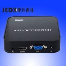 JEDX Full HD 1080 P SD/U Disco Externo HDD Media Player USB multimedia player Con HDMI VGA MKV H.264 RMVB WMV envío adaptador de Coche!