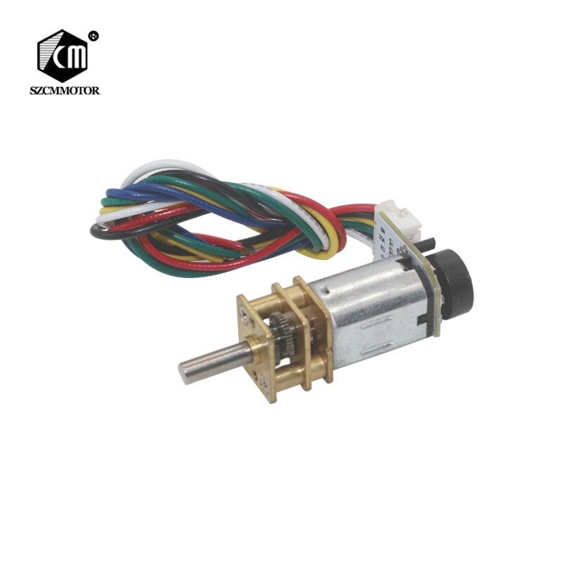 N20 Micro DC6V 39 rpm para 3000 rpm Encoder Encoder Do Motor Da Engrenagem Do Motor Redutor de Motoredutores DC Motoredutores Qualidade Superior