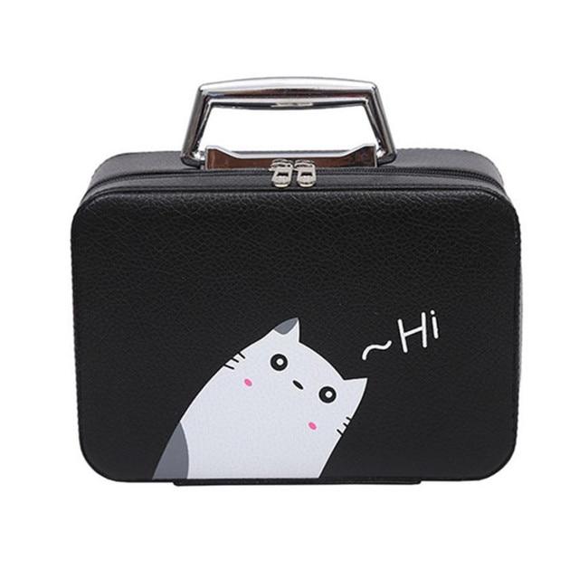 429321a3c Portable Travel Makeup Bag Makeup Case Mini Makeup Train Case Zipper  Storage @6109