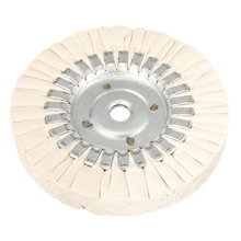 цена на 6 Inch Cotton Airway Polishing Buffing Grinding Wheel Arbor Polisher Disc Pad 25mm Thickness Abrasive Polishing Tool