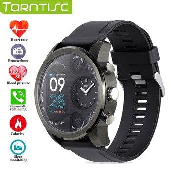 TORNTISC Sport Fitness Tracker Smart watch T3 5ATM Waterproof Blood Pressure oxygen Heart Rate monitor Smartwatch Dual time zone