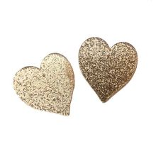 Korean Fashion Jewelry Acrylic Women Heart Stud Earrings Gold Silver Red