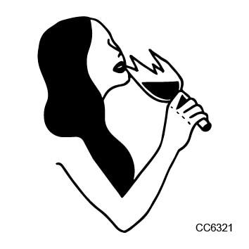 CC6321 6X6 cm Pequeño Estilo de la Escuela Vieja de La Vendimia Desnuda Mujeres