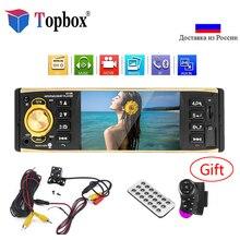 Topbox Авторадио 4019B 1 один Дин MP3 плеер автомобиля Радио Аудио радиостанция Bluetooth USB AUX FM заднего вида Камера удаленного Управление