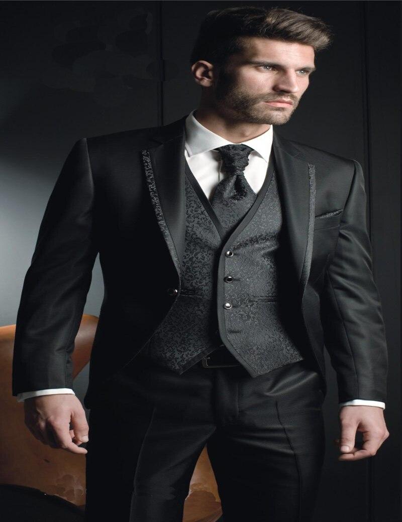 Modern Top Selling Groom Tuxedos,black Wedding Suit ...  Modern Top Sell...